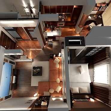 Двухкомнатная квартира – пространство для идей дизайнерских перепланировок