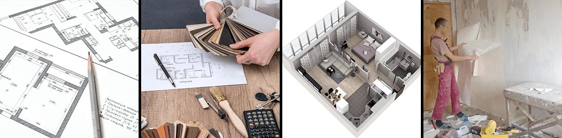Этапы дизайна двухкомнатной квартиры